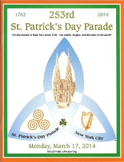 2014 NYC St. Patrick's Day Parade Program